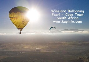 Balloon over the Paarl valley close to the Limietberge - Picture by Keith Pickersgill   http://www.kapinfo.com