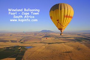 Balloon over the Winelands of the Cape - Picture by Keith Pickersgill